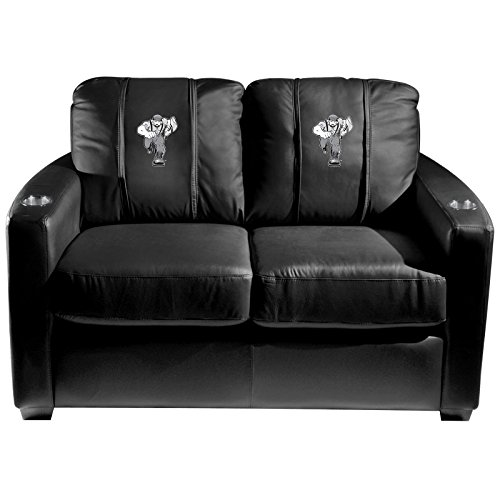 XZipit College Silver Loveseat with Northern Arizona University Lumberjacks Logo Panel, Black