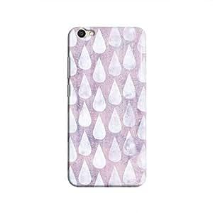 Cover It Up - Raindrops Print Purple V5 Hard Case