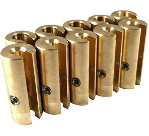 No-Mar Spoke Wheel Weight 1 1/2 oz. Brass (10 pack) ()