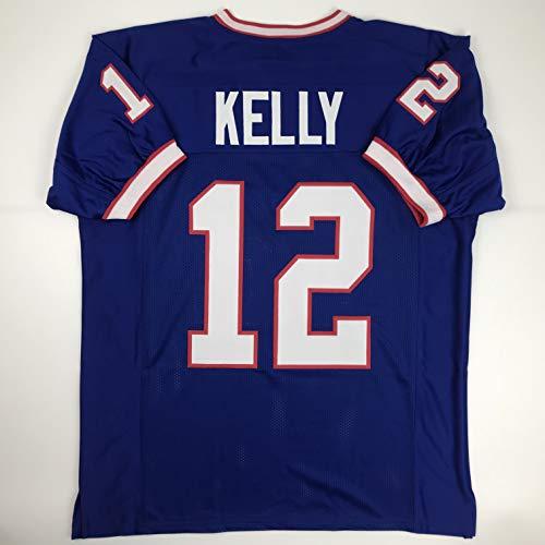 Unsigned Jim Kelly Buffalo Blue Custom Stitched Football Jersey Size Men's XL New No Brands/Logos Buffalo Bills Football Jersey