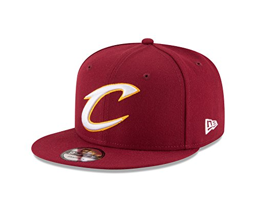 New Era NBA Cleveland Cavaliers Men's 9Fifty Team Color Basic Snapback Cap, One Size, Cardinal (Cleveland Hat Cap Cavaliers)
