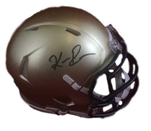 Keenan Reynolds Autographed Navy Midshipmen Gold Mini Helmet JSA