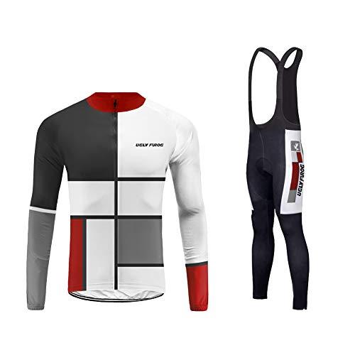 fed17c0a816c Uglyfrog 2019 Abbigliamento Ciclismo Inverno Set Abbigliamento Sportivo per  Bicicletta Traspirante Maglia Pantaloni da Uomo ZRMX11 Magliette