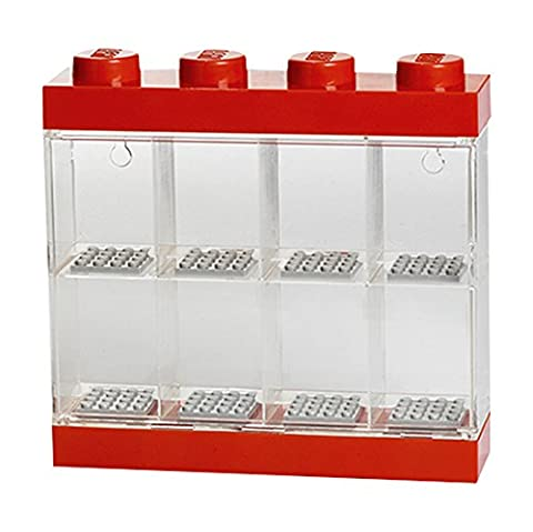 Lego Small Minifigure Display Case - Red