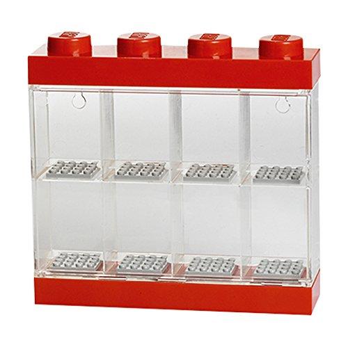 LEGO Mini Figia Display Case / 8 Bright Red 5711938023577