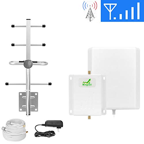 Mingcoll Cell Phone Signal Booster 700MHz Band 13 4G LTE Cell Phone Signal Amplifier Verizon Cell Phone Signal Repeater Mobile Signal Booster for Home (WV70-NN1)