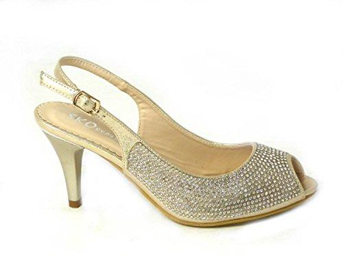 SKOS - Sandalias de vestir de Material Sintético para mujer - Gold (80367-A1)