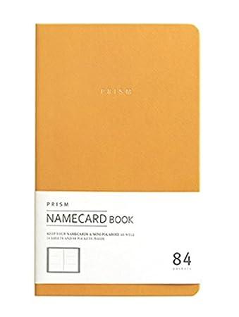 Amazon indigo prism name card book business card holder indigo prism name card book business card holder organizer instax mini photo album reheart Images