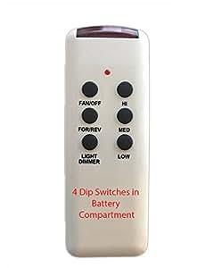 Amazon Com Chq8bt7053t Ceiling Fan Remote Control 4 Dip