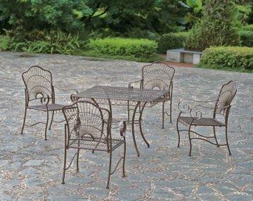 wrought iron patio dining set - 5