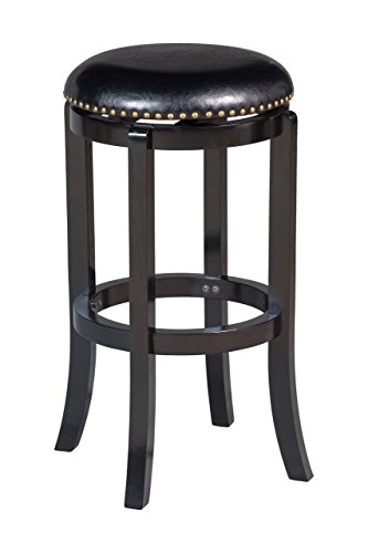 Boraam Cordova Bar Height Swivel Stool, 29-Inch, Black