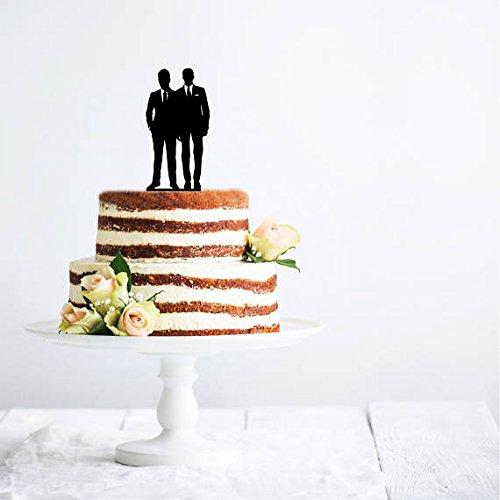 Two Grooms U2013 Wedding Couple Cake Topper | Wedding Cake Topper | LGBT Cake  Topper | Gay Wedding | Gay Wedding Cake
