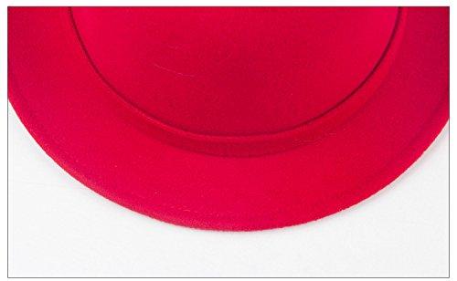 6d764662 Bigood Women Chic Cat Ear Soft Derby Bowler Hat Jazz Cap Red ...