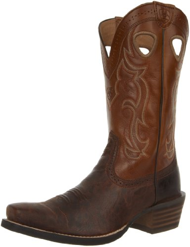 Ariat Men's Rawhide Western Cowboy Boot, Weathered Chestnut/Vintage Cedar, 8 2E US