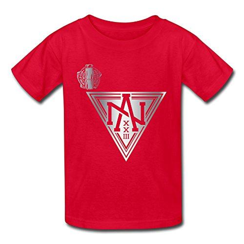 ALIMN Unisex Baby Team North America 2016 World Cup Of Hockey Platinum Logo T-Shirt Red