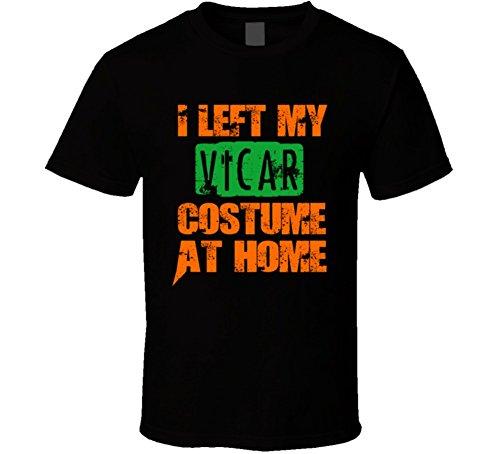 Vicar Halloween Costume (Left Vicar Halloween Costume At Home Occupation T Shirt L Black)