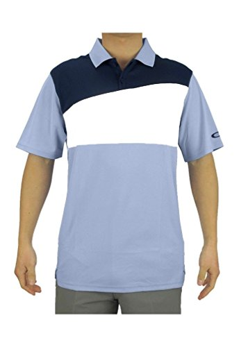 Oakley Men's Greene O Hydrolix Golf Short Sleeve Polo Shirt - Oxford Blue - Oakley Sun Visor