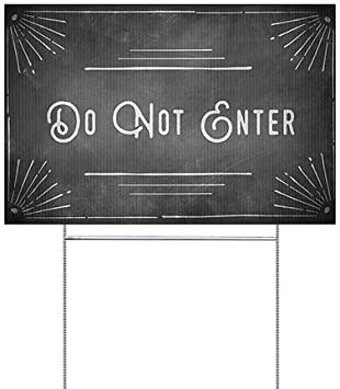 Nostalgia Stripes Double-Sided Weather-Resistant Yard Sign 27x18 CGSignLab Do Not Touch 5-Pack