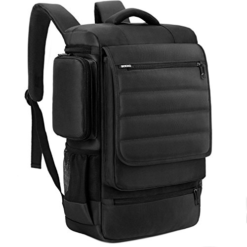 18.4 Inch Laptop Backpack,BRINCH Water Resistant Large Travel Backpack Luggage Knapsack Computer Rucksack Hiking Bag College Backpack Fits 18-18.4 Inch Laptop Notebook Computer for Men, Black