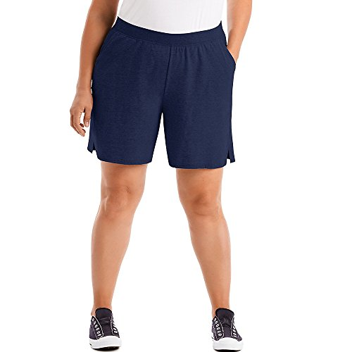 Just My Size Women's Plus Cotton Jersey Pull-On Shorts - 3X Plus - Navy