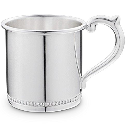 Cunill 3-Ounce Beaded Baby Cup, 2.12-Inch, Sterling Silver - Cups/sterling Baby