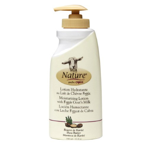 Nature By Canus Lotion - Goats Milk - Nature - Shea Butter - 11.8 - Goats Canus Lotion Milk