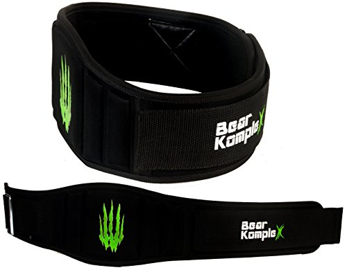 Bear KompleX 6 Strength Weightlifting Belt for Men Women, Durable, Easily Adjustable, Low Profile with Super Firm Back for Support During Powerlifting, Cross Training, Squats, Weights, and More.