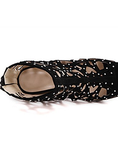 ZQ Nero casual tacones Nero ¨ negro vell US8 tac mujer stiletto UK4 CN42 n di Scarpe ¨ 5 UK6 ® tacones 5 ® EU36 n EU39 US6 CN38 rvw8r