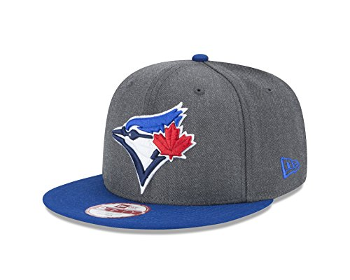 New Era Men's Toronto Blue Jays, Graphite, One Size (Toronto Blue Caps Jays)