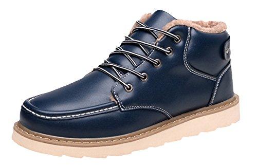 Eozy Botte Bottine Chaussure Homme Chaud Hiver PU Antidérapant Bleu YjpqJSWE2