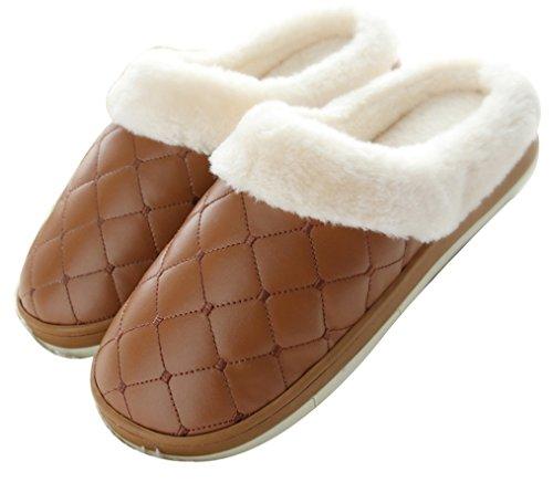 2015 Nieuwe Blubi Heren Indoor Geruite Patroon Warme Fleece Slaapkamer Slippers Warme Slippers