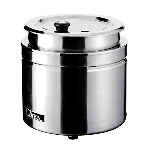 11 Quart Soup Kettle (Atosa AT51388 11-Quart Soup Warmer Kettle, Counter Top, 800 Watts, Stainless Steel)