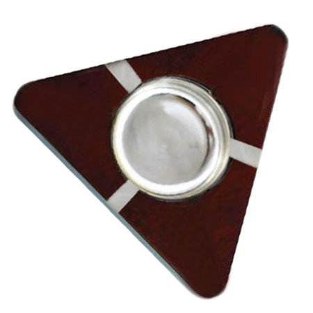 Wooden Ashtray Triangle Shaped, Cigarette Ashtray, Smokers Ashtray, Table Ashtray, Cigarette Holder, Brown Color Size 5.5 X 1.5 Inch, Easter Day / Mother`s Day / Good Friday Present (Ashtray Shaped Triangle)