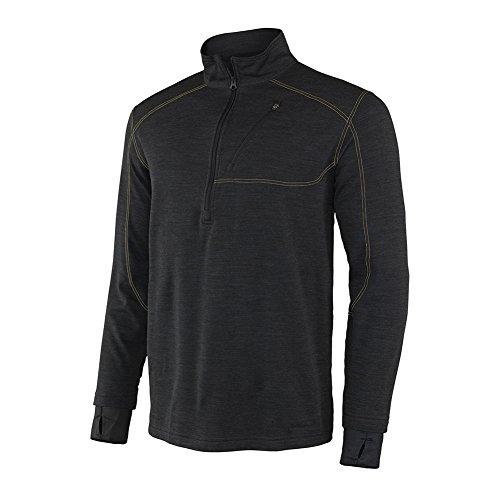 Terramar Men's Thermawool Merino Wool Half Zip Pullover Jacket, Smoke Heather, Medium (38