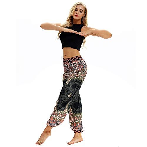 Larghi Yci 020 Ladies Danza Mutandoni Ventre Bodhi Unica Duntlopy Del 020 In Casual Elastico Pantaloni Stampato Taglia Vita wTqxIUO