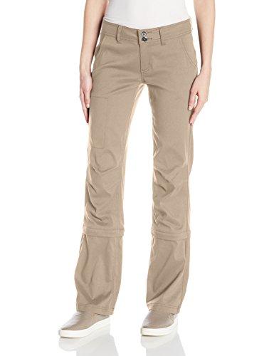 - prAna Women's Halle Convertible Pant - Short, Dark Khaki, 2