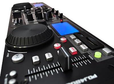 PYLE-PRO PDJ480UM Rack Mount Professional Dual DJ Controller with Scratch, Loop, Mixer, USB and SD Card Player