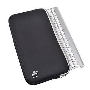 Case Star Black Color Quality Neoprene Keyboard Sleeve Case Bag with Zipper for Apple Bluetooth Wireless Keyboard…