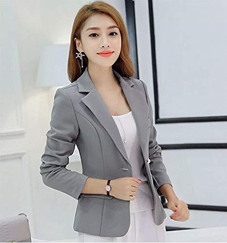 Primaverile Cappotto Moda Rot Solidi Slim Tailleur Da Blazer Elegante Tasche Business Lunga Giacca Donna Con Colori Fit Manica Button Bavero Autunno g4PqExwH
