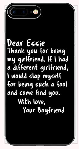 Dear Essie My Girlfriend from Boyfriend Funny Saying Valentines Phone Case for iPhone 6+, 6S+, 7+, 8+