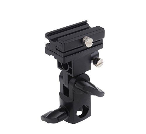 (Godox Flash Bracket Speedlite Monte Swivel Light Stand Soporte para paraguas Studio inclinable para Canon 430EX II, 580EX II, 600EX-RT, Nikon SB600 SB800 y SB900)