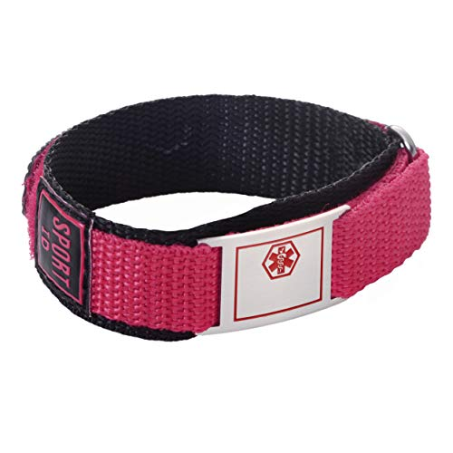 linnalove Punch Sport Medical Alert id Bracelet for boy and Girl,teenagers-customize-65 ()