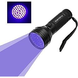 Vansky UV Flashlight Black Light For Pet Urine Detection,51 LED Ultraviolet Detector For Dog/Cat Urine,Dry Stains,Bed Bug On Carpets/Rugs/Floor(3AA Batteries Included)