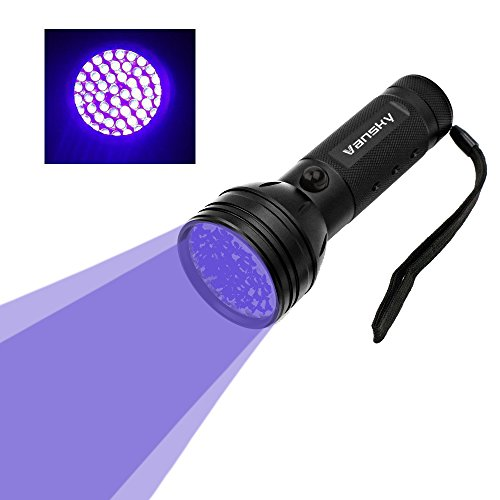 Vansky UV Flashlight Black Light For Pet Urine Detection,51 LED Ultraviolet Detector For Dog/Cat Urine,Dry Stains,Bed Bug On Carpets/Rugs/Floor(3AA Batteries Included)