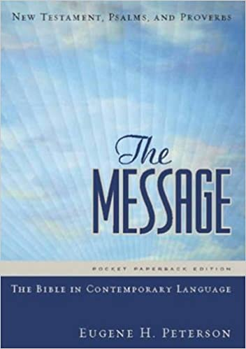 the message new testament with psalms and proverbs pocket the new