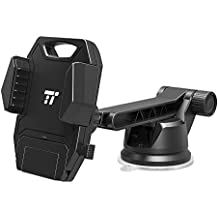 TaoTronics Car Phone Mount with Convenient One-handed Operation (Huge Reach, 180 Degree Rotatable Arm, Super Sticky and Washable Suction Cup For More Versatility)