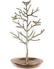 منظمة الاقراط والاكسسوارات على شكل شجرة، ذهبي