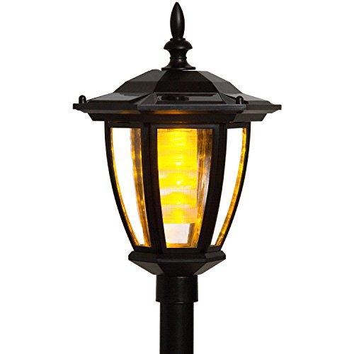 VOLTRONIC® 2in1 Solar LED Gartenlaterne, Montage als Hängelaterne oder mit Erdspieß, Höhe 78 cm