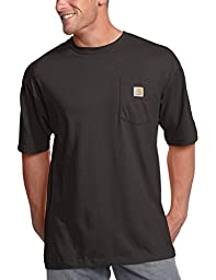 Carhartt Men\'s Workwear Pocket Short Sleeve T-Shirt Original Fit K87,Black,2X-Large
