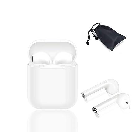 Auriculares I8X Bluetooth, auricular para auriculares compatible con iPhone y teléfonos Samsung y Android,